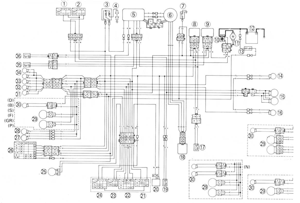 1990 Fzr Yamaha 600 Wiring Diagram Schematic Diagrams Xt Find U2022